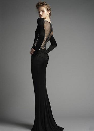 Платье длинное черное кружевное платье