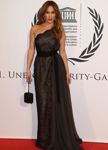 Черное платье в пол звезды