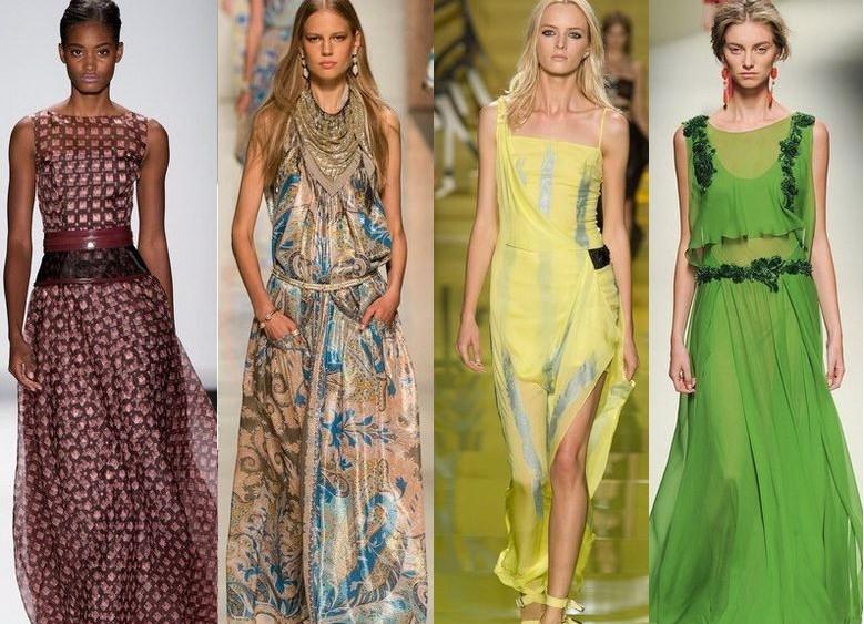 Модные длинные сарафаны 2015