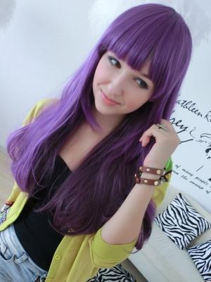 Фото черно фиолетовый цвет волос