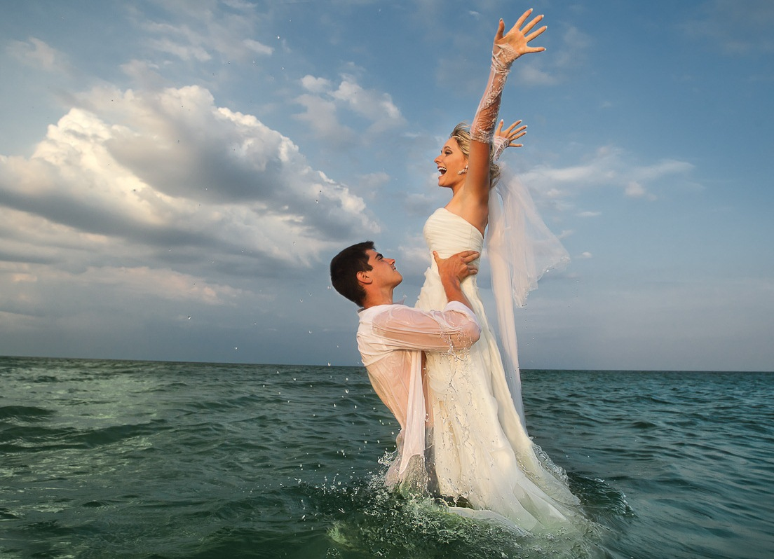 Young island wedding