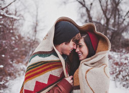 Пара зимой картинки