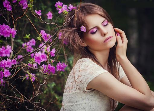Фото макияжа длясессии на природе