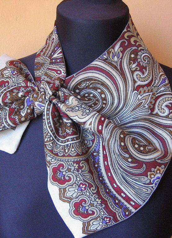 Как сшить из платка платок на шею 392