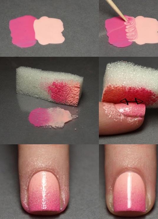 Как сделать градиент на ногтях лаком в домашних условиях