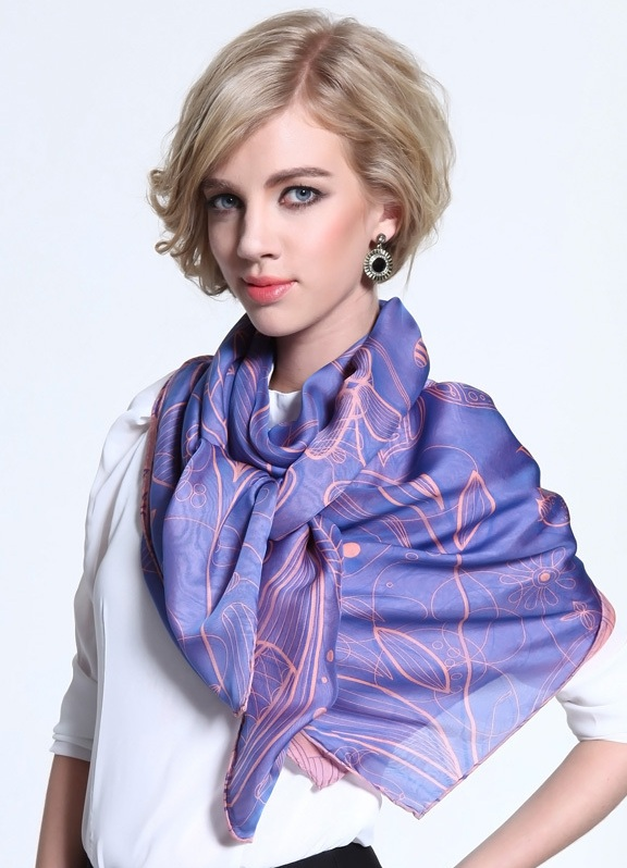 Красиво завязать платок на шее поверх платья 426