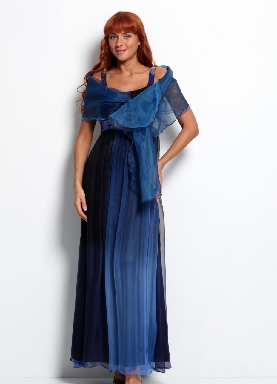 Вечерние платья с палантином