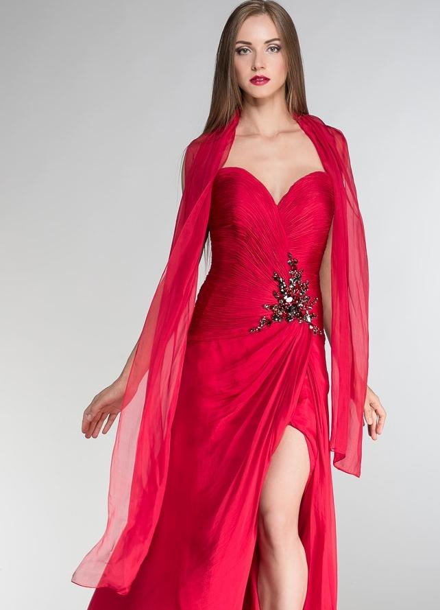Вечернее платье с шарфиком