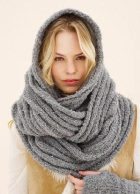Такие шарфы делают разной длины и ширины, вязаные снуды, как правило