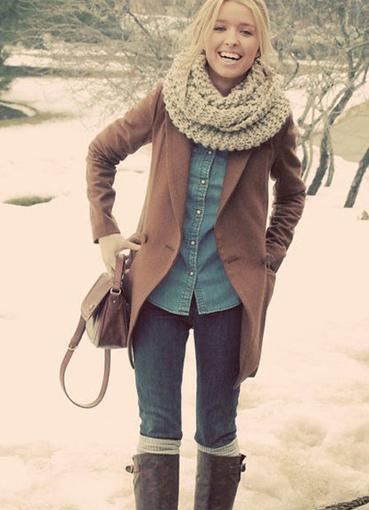как красиво одеться зимой фото