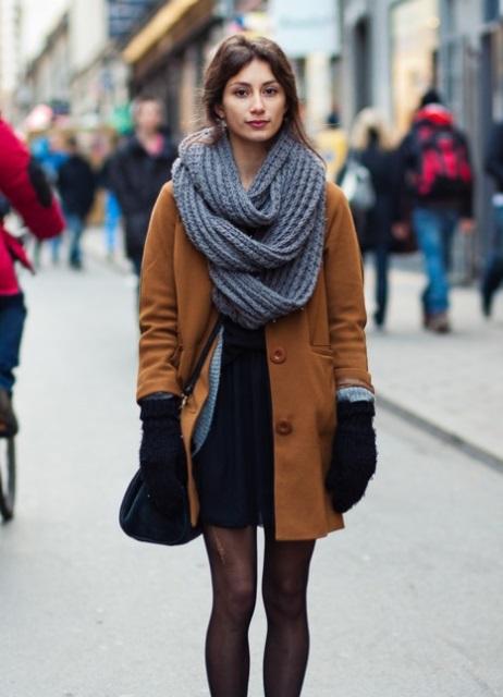 Палантин пальто зима носить
