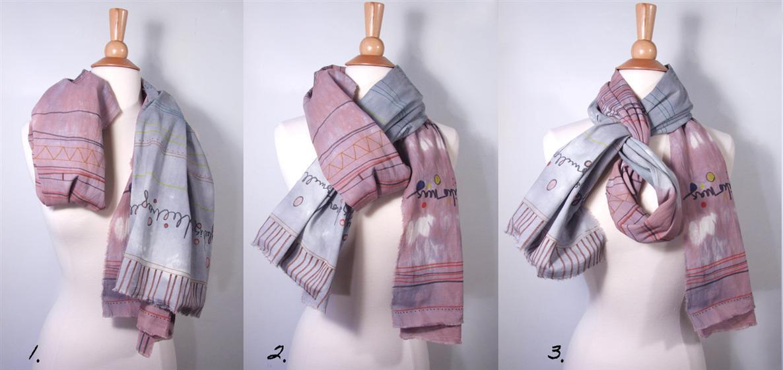 как завязывать шарфы платки