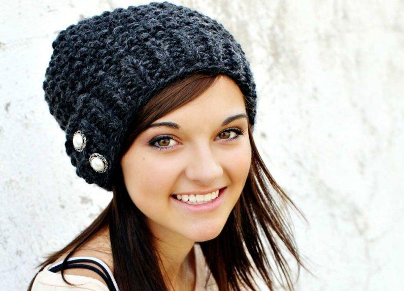 вязаные шарфы и шапки сезона осень