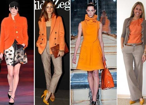 С чем носят оранжевый цвет