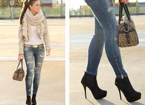 Какая обувь подходит к платью джинсам