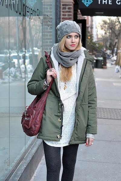 Какую зимнюю шапку носить с курткой
