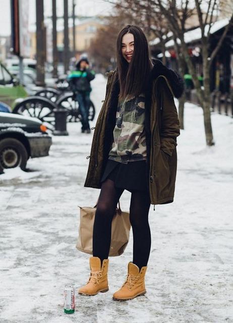 С чем носить ботфорты зимой картинки