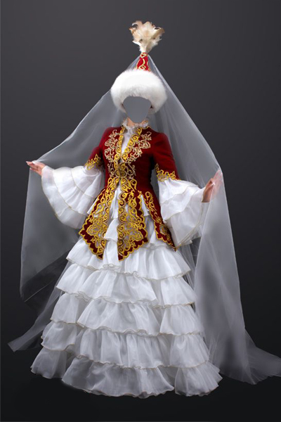 Национальный женский казахский костюм