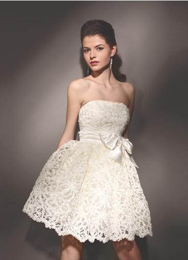 Фото свадебных платьев короткие кружевные