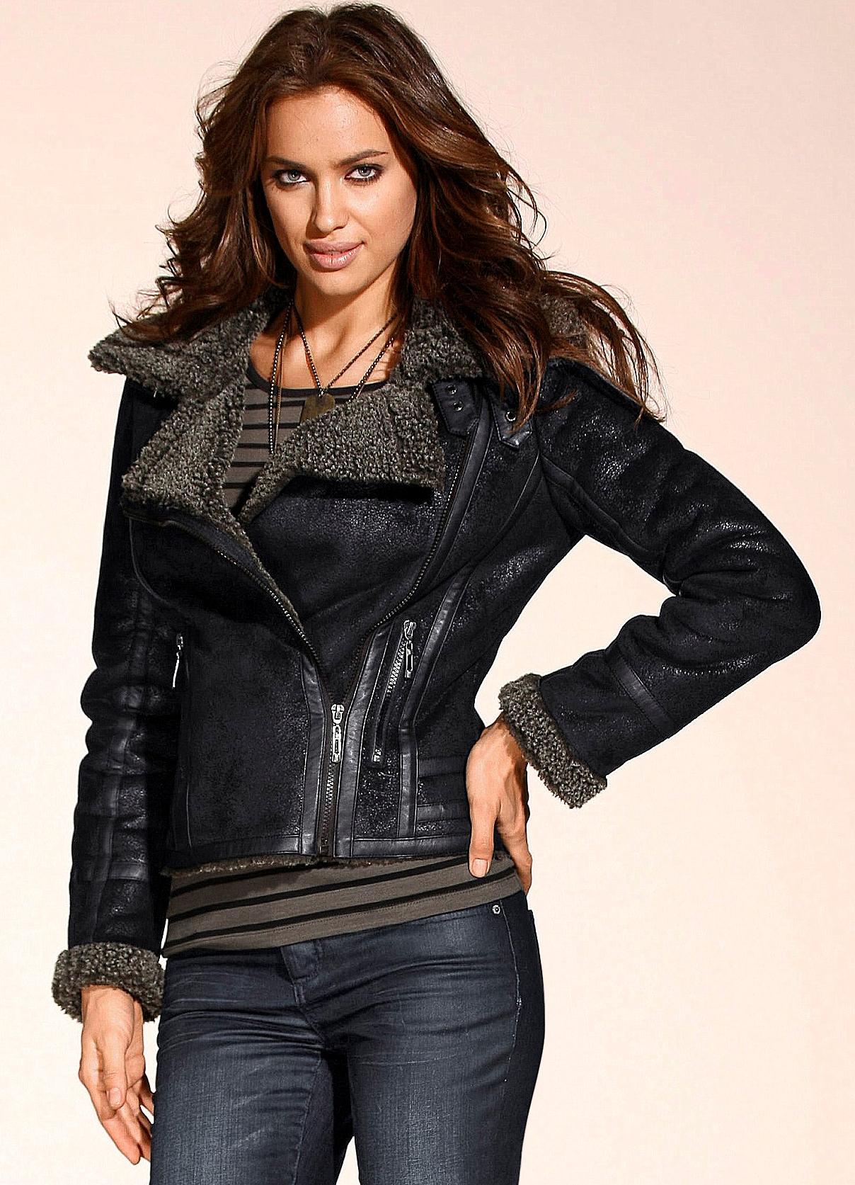 Красивые кожаные куртки для девушек фото