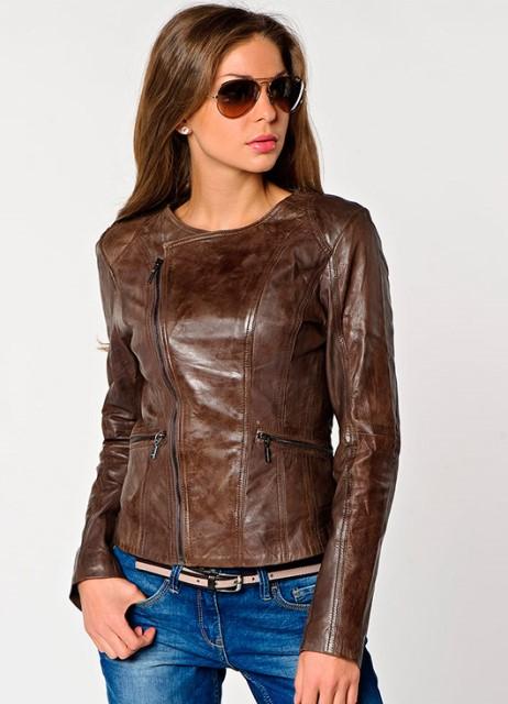 Модные модели кожаных курток 2014