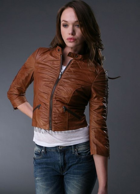 Женские кожаные куртки мода 2014