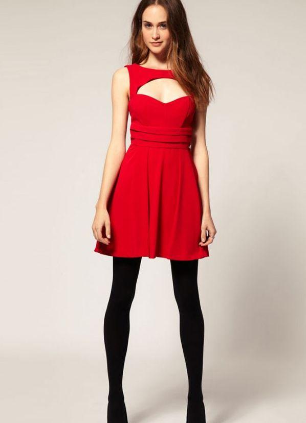 324Модели красных платьев