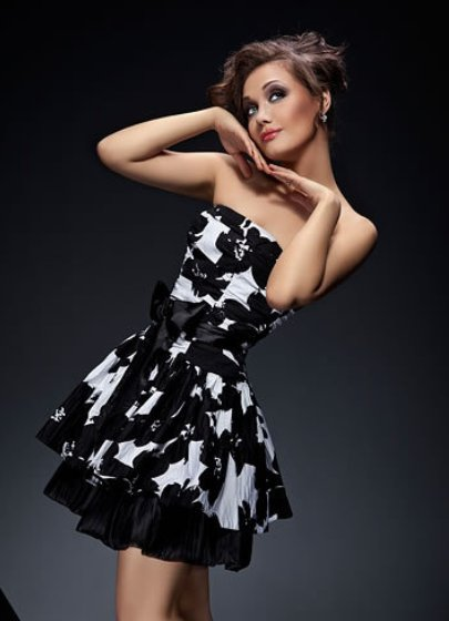 Сделать черно белое платье