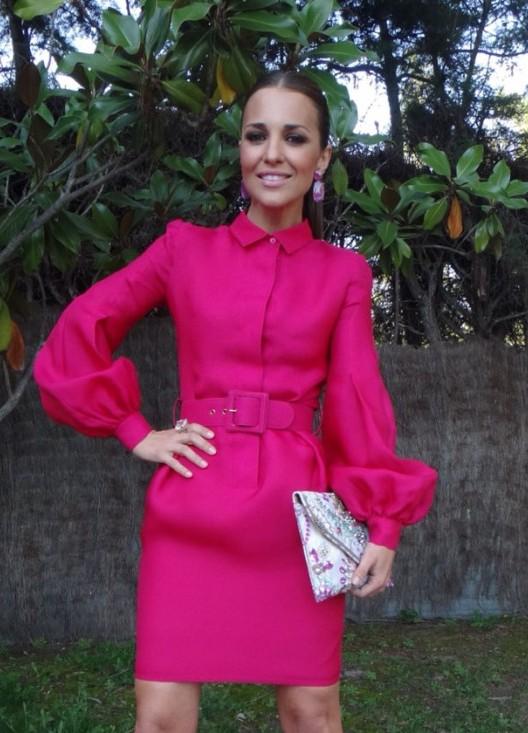 Другие фото Женское короткое яркое розовое платье с пиджаком в комплекте