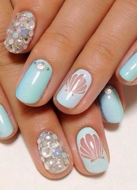 Морской рисунок ногтях