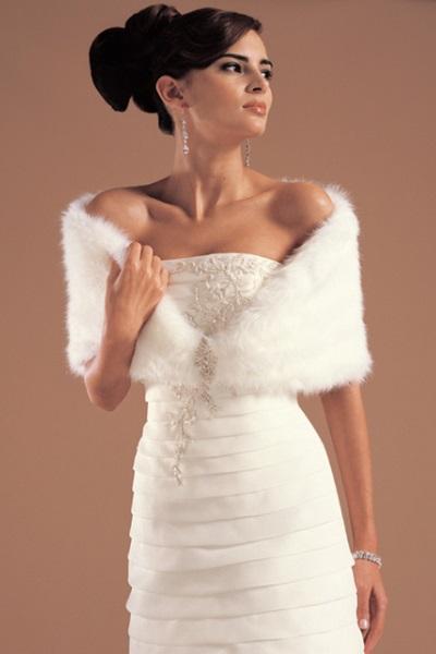 меховая накидка на свадебное платье 4