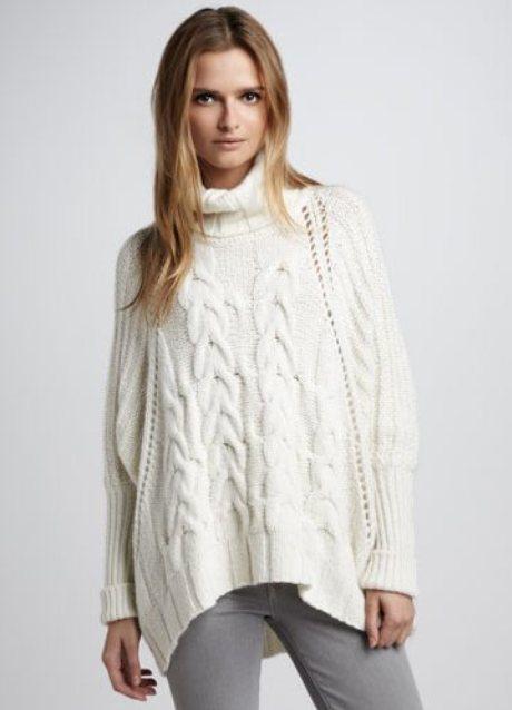 Модное вязание пуловеров спицами. . Вязаный женский пуловер спицами для важных дел цвета верблюжьей шерсти.Далее