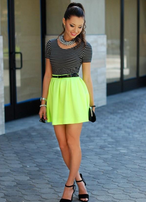 В последних коллекциях летние юбки представлены в большом разнообразии моделей и расцветок