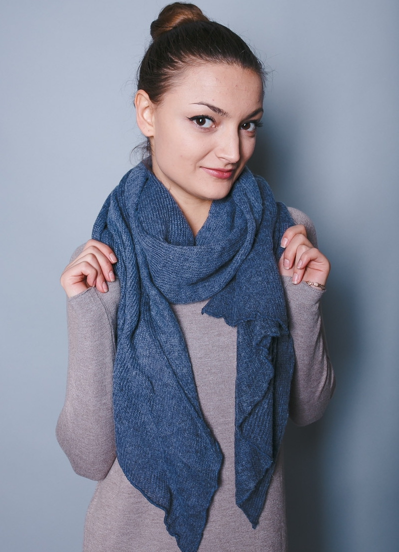 Шарфы тонкие вязание