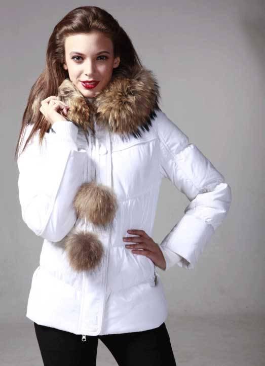 Женская зимняя одежда. Женские зимние куртки - Пуховик Дутые Купить Белые