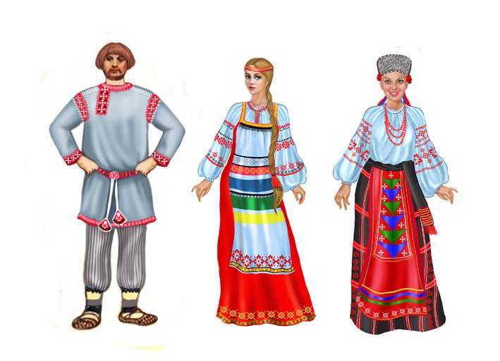 Народный Костюм России