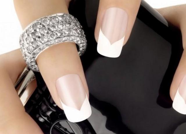белый френч на ногтях 2014 фото