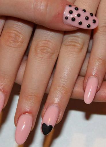 дизайн ногтей овальной формы: