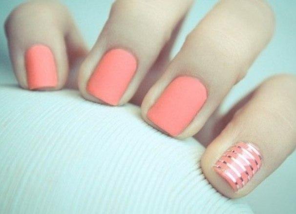 однотонные ногти с рисунком фото