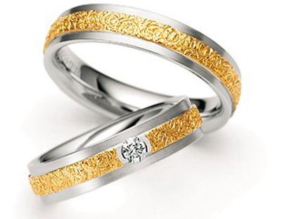 Красивые обручальные кольца из золота фото