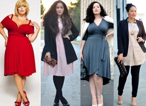 Одежда Для Полных Женщин Перевернутый Треугольник