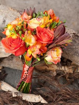 Букеты невесты осенние фото