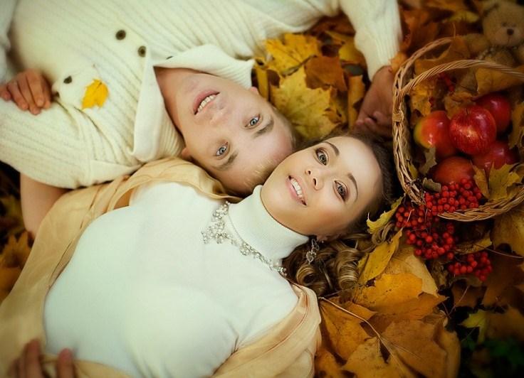 Осенняя фотосессия с дочкой