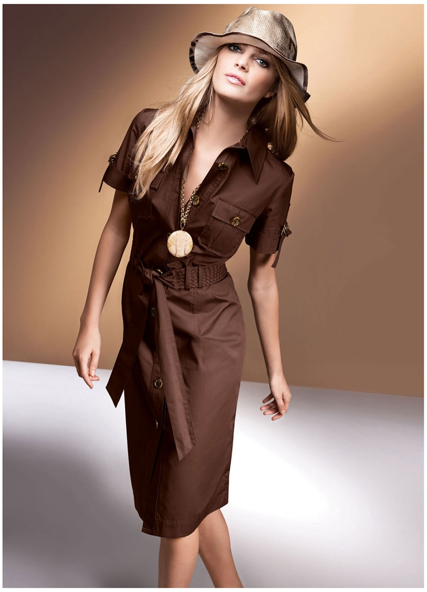 модели платьев, стиль сафари