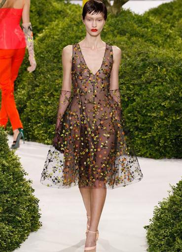 Платья с цветами диор