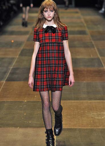 Фото платьев из шотландки