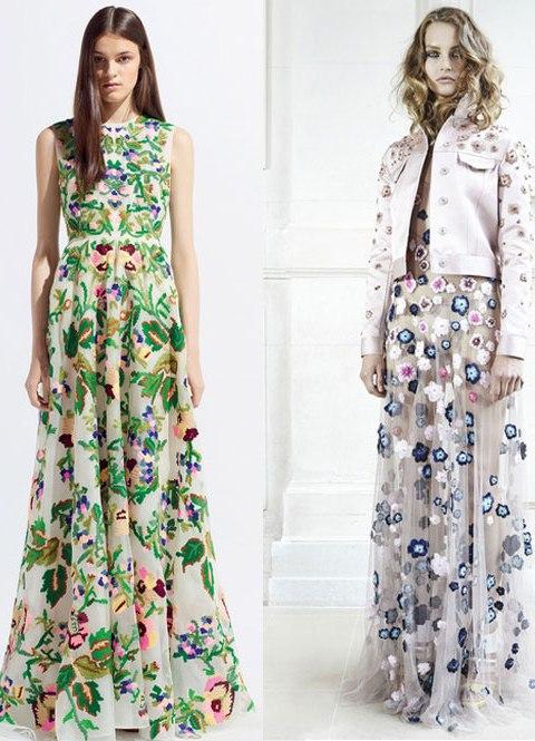 Шифоновые платья длинные с рукавом