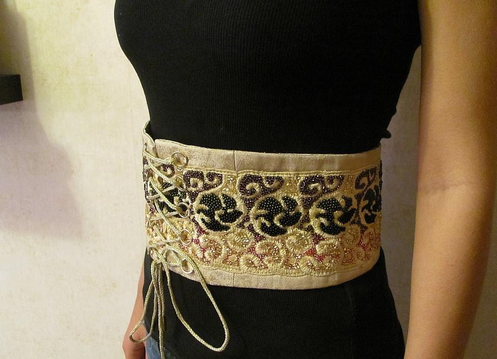 Пояс для платья из бисера своими руками