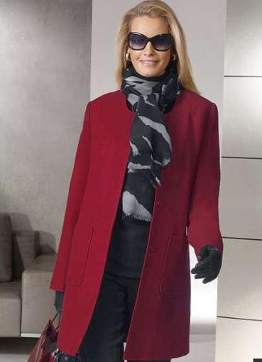 Пальто с вырезом с чем носить