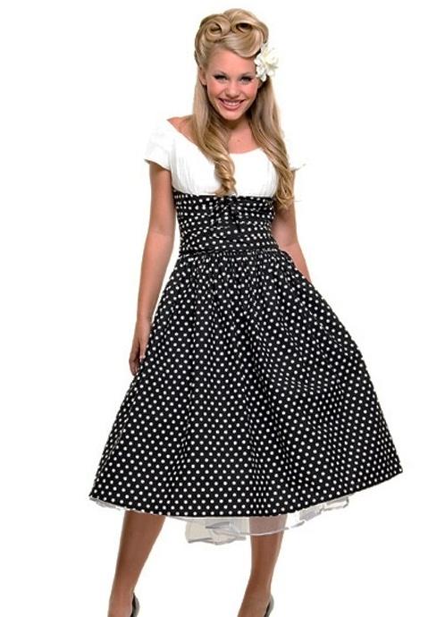 ретро платья с пышной юбкой 3